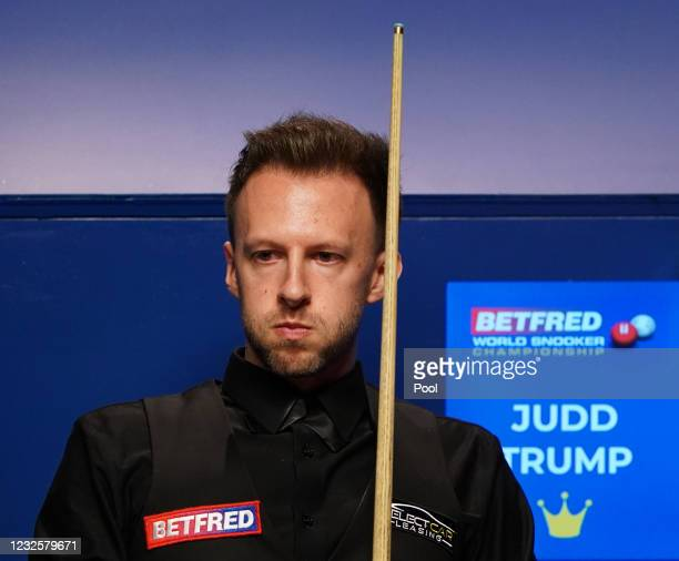 England's Judd Trump during during day 12 of the Betfred World Snooker Championships 2021 at Crucible Theatre on April 28, 2021 in Sheffield, England.