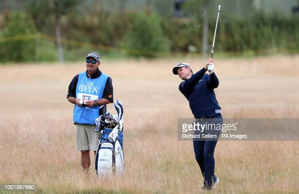 England's Justin Rose during preview day four of The Open Championship 2018 at Carnoustie Golf Links Angus