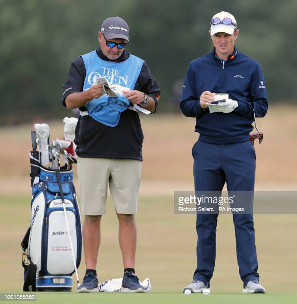 England's Justin Rose on the 10th during preview day four of The Open Championship 2018 at Carnoustie Golf Links Angus