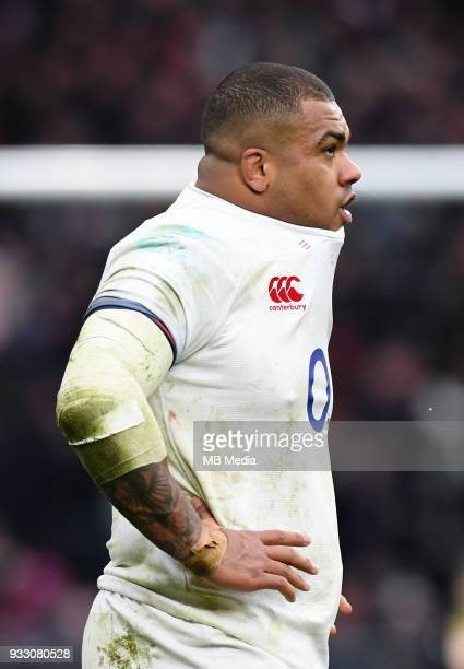 England's Kyle Sinckler during the NatWest Six Nations Championship match between England and Ireland at Twickenham Stadium on March 17 2018 in...