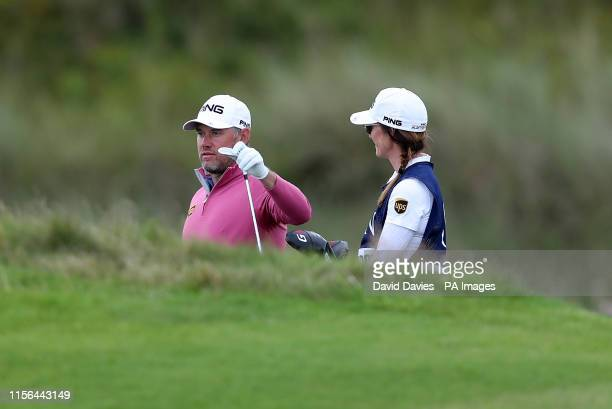 England's Lee Westwood with girlfriend and caddie Helen Storey during day two of The Open Championship 2019 at Royal Portrush Golf Club