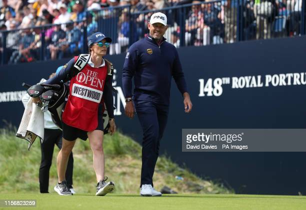 England's Lee Westwood with girlfriend and caddie Helen Storey during day three of The Open Championship 2019 at Royal Portrush Golf Club