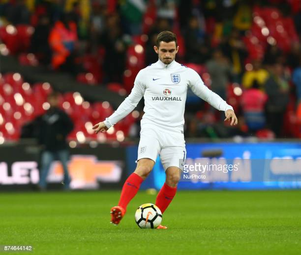 England's Lewis Cook during International Friendly match between England and Brazil at Wembley stadium London on 14 Nov 2017