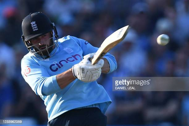 England's Lewis Gregory in action during the third one day international cricket match between England and Pakistan at Edgbaston cricket ground in...