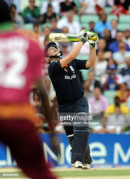 England's Luke Wright looks on as he is caught by West Indies' Denesh Ramdin for 6 off the bowling of Kieron Pollard during the ICC World Twenty20...