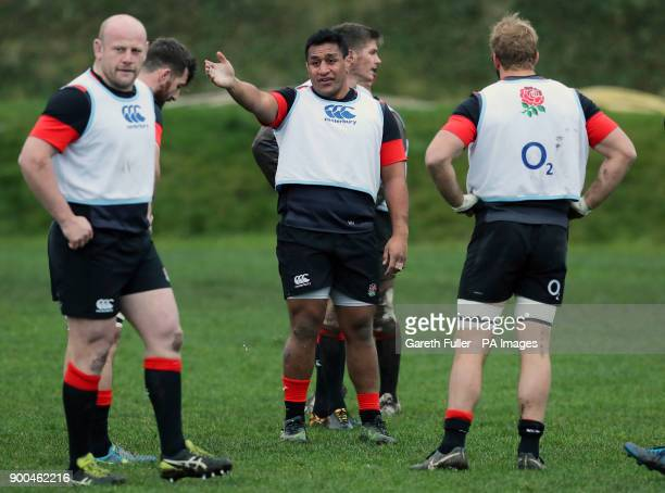 England's Mako Vunipola during a training session at Brighton College