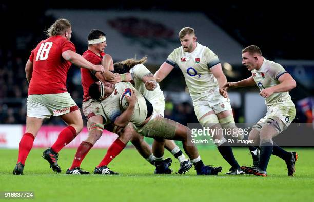 England's Mako Vunipola in action during the NatWest 6 Nations match at Twickenham Stadium London