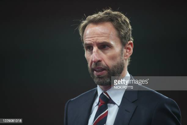 England's manager Gareth Southgate gives a post-match press conference after the UEFA Nations League group A2 football match between England and...