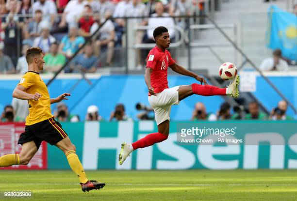 England's Marcus Rashford in action during the FIFA World Cup third place playoff match at Saint Petersburg Stadium