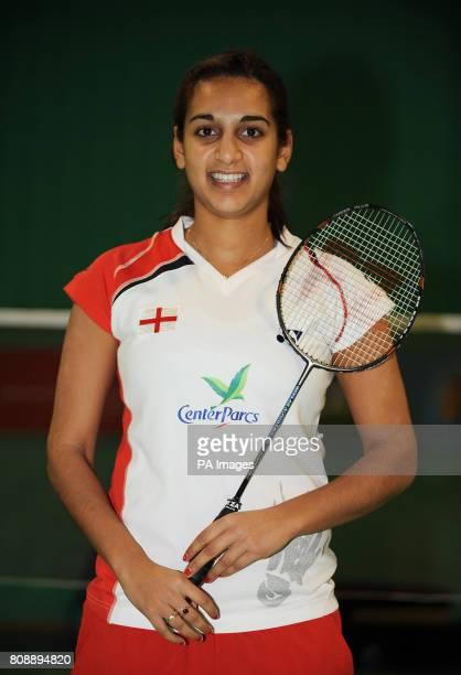 England's Mariana Agathangelou during a photocall at the National Badminton Centre Milton Keynes