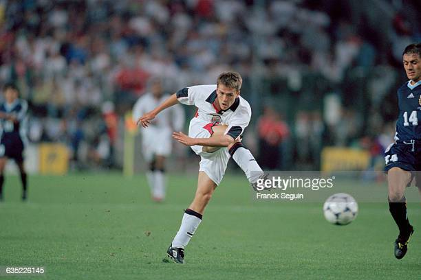 England's Michael Owen during the 1998 soccer World Cup match against Argentina | Location StEtienne France