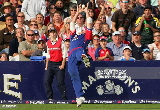 England's Michael Yardy takes the catch on the boundary to dismiss Pakistan's Shahid Afridi during the NatWest International Twenty20 match between...