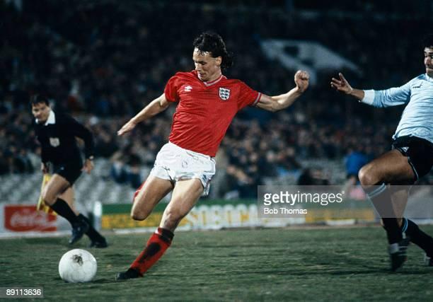 England's Mike Duxbury in action against Uruguay at the Estadio Centenario in Montevideo 13th June 1984 Uruguay won 20