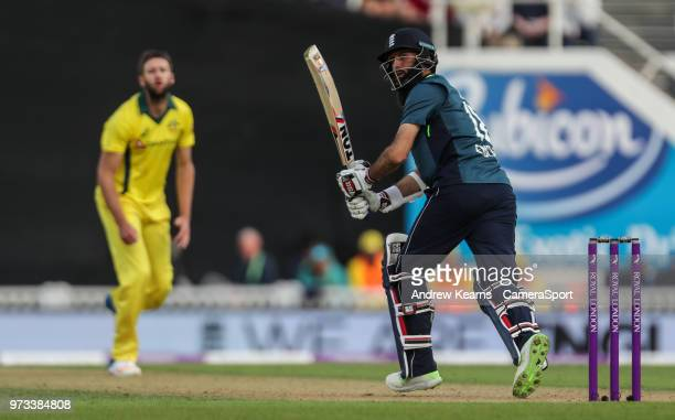 England's Moeen Ali during the Royal London 1st ODI match between England and Australia at The Kia Oval on June 13 2018 in London England