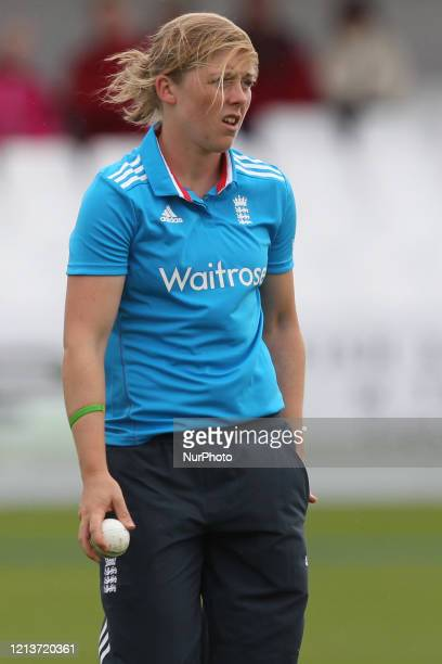 England's Natalie Sciver during the First One Day International between England Women and India Women at Scarborough CC, North Marie Road,...