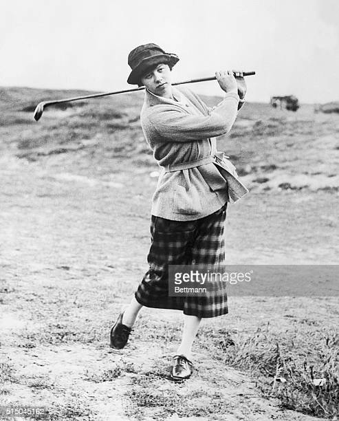 England's New Woman Golf Champion. Miss Joyce Wethered, who vanquished Cecil Leitch, England's supposedly unbeatable golfer. Miss Wethered is 20...
