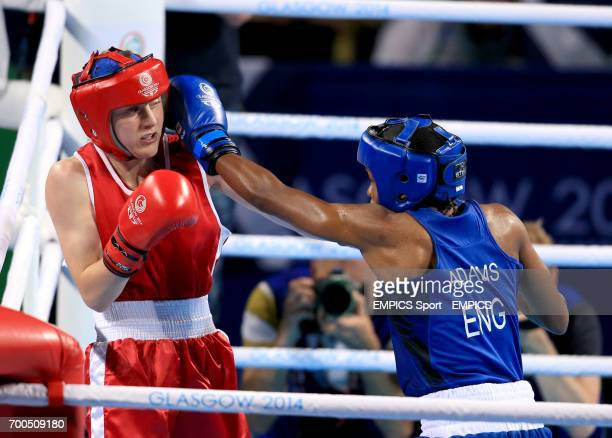 England's Nicola Adams and Northern Ireland's Michaela Walsh during the Women's Fly Final Bout at the SSE Hydro during the 2014 Commonwealth Games in...