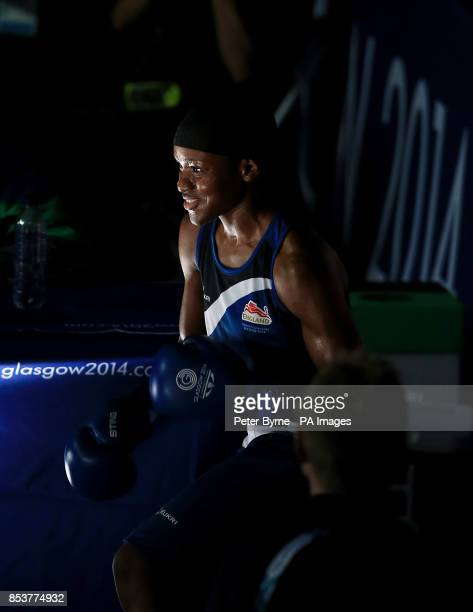 England's Nicola Adams before her match against Nigeria's Oluwatoyin Oladeji in the Women's Fly Round of 16 at the SECC during the 2014 Commonwealth...