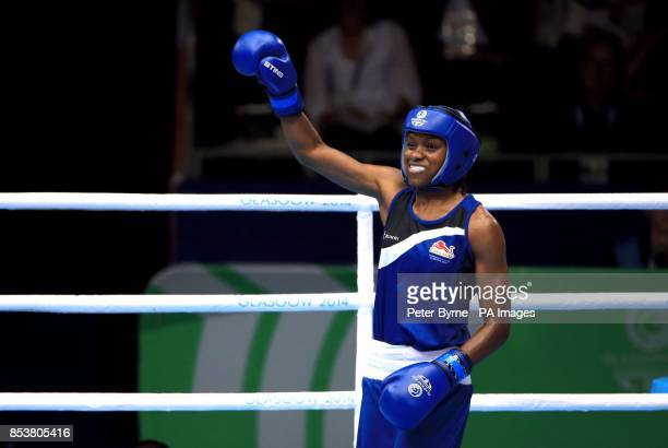 England's Nicola Adams during her match against Canada's Mandy Bujold in the Women's Boxing Fly Semifinal 2 at the SECC during the 2014 Commonwealth...