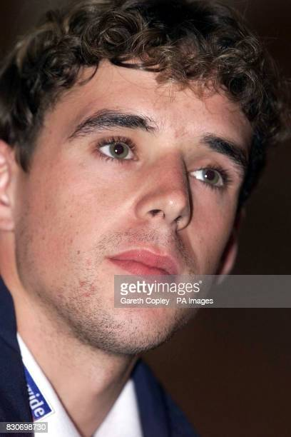 England's Owen Hargreaves talks during a press conference at the Mandarin Oriental Hotel in Munich, Germany. England are to play Germany in the Group...