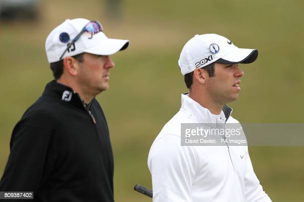 England's Paul Casey with former champion USA's Ben Curtis on Day One