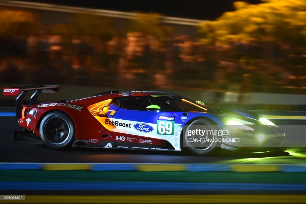 Englands Pilot Richard Westbrook Ford Gt Gte Ecoboost N During The First Qualifying Practice Session Of The Le Mans  Hours Endurance Race On June