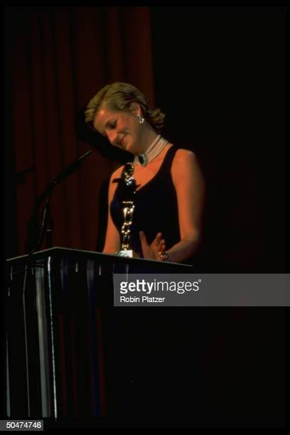 England's Princess Di presenting award at Council of Fashion Designers of America gala