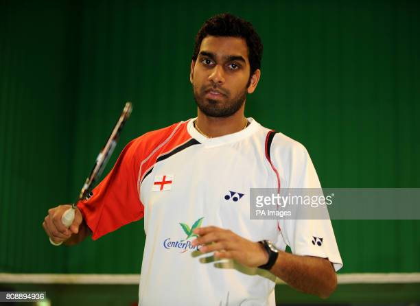 England's Rajiv Ouseph during a photocall at the National Badminton Centre Milton Keynes