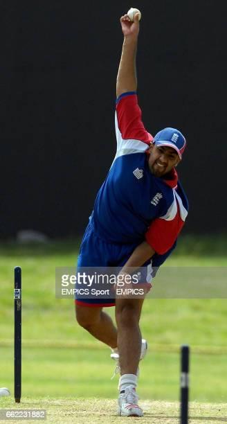 England's Ravi Bopara during net practice