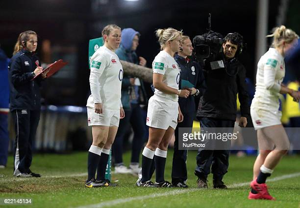 England's Rochelle Clark coming on to equal Jason Leonard's record 114 caps during Old Mutual Wealth Series between England Women and France Women...