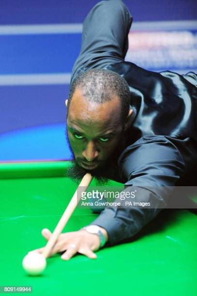 England's Rory McLeod at the table during his first round match during the Betfredcom World Snooker Championships at the Crucible Sheffield