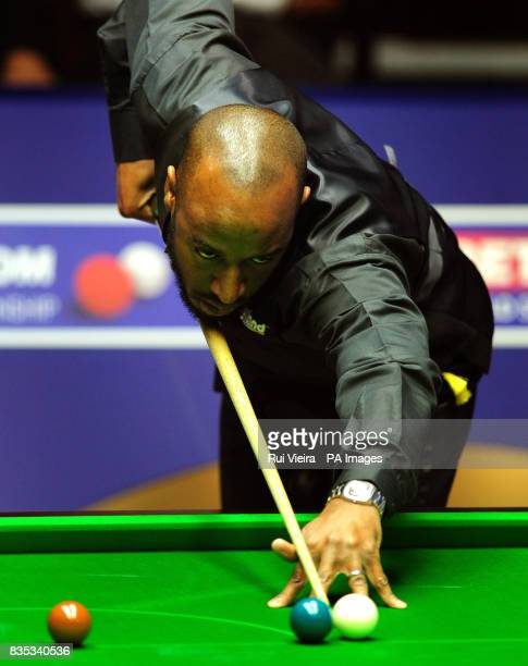 England's Rory McLeod in action against England's Mark King during the Betfredcom World Snooker Championship at The Crucible Theatre Sheffield