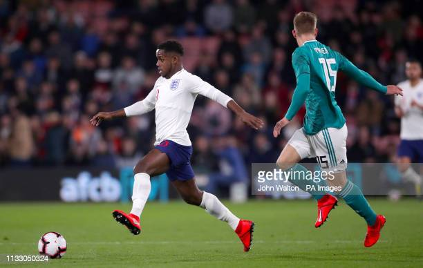 England's Ryan Sessegnon and Germany's Arne Maier battle for the ball during the International Friendly match at the Vitality Stadium Bournemouth