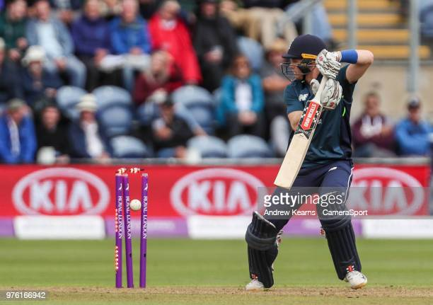 England's Sam Billings is bowled by Australia's Andrew Tye during the Royal London OneDay Series 2nd ODI between England and Australia at Sophia...