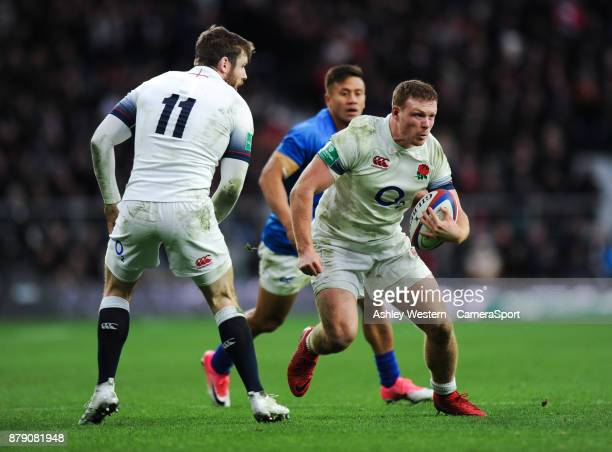 England's Sam Simmonds in action during the 2017 Old Mutual Wealth Series Autumn International match between England and Samoa at Twickenham Stadium...