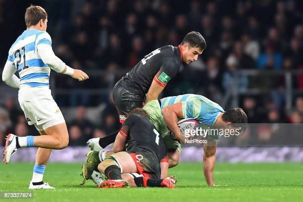 England's Sam Underhill and England's Alex Lozowski in action during Old Mutual Wealth Series between England against Argentina at Twickenham stadium...