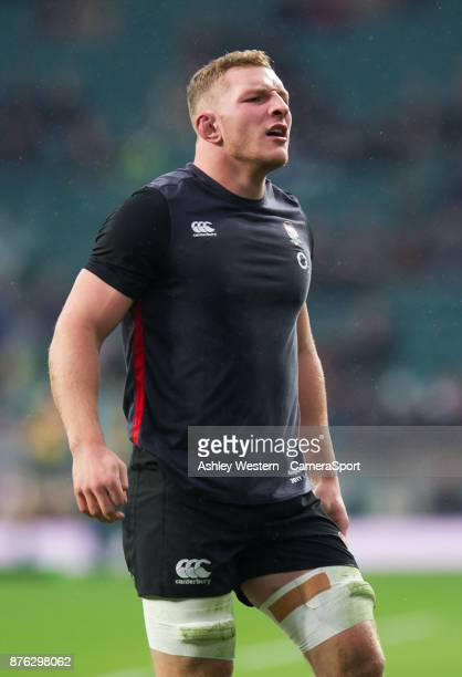 England's Sam Underhill during the pre match warm up before the Old Mutual Wealth Series Autumn International match between England and Australia at...