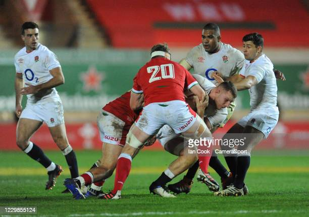 England's Sam Underhill is tackled by Wales Johnny Williams during the Quilter International match between Wales and England as part of the Autumn...