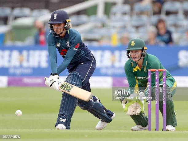England's Sarah Taylor batting during the second Women's One Day International Series match at the 1st Central County Ground, Brighton.