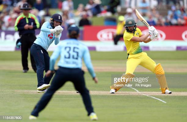 England's Sarah Taylor takes a catch to claim the wicket of Australia's Ellyse Perry during the Third One Day International of the Women's Ashes...
