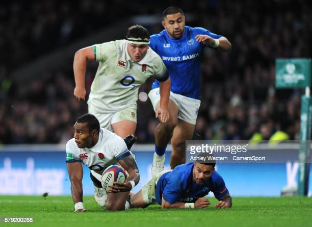 England's Semesa Rokoduguni in action during the 2017 Old Mutual Wealth Series Autumn International match between England and Samoa at Twickenham...