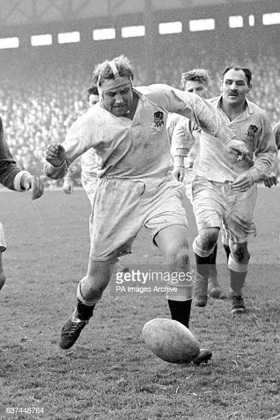 England's Squire Wilkins kicks the ball