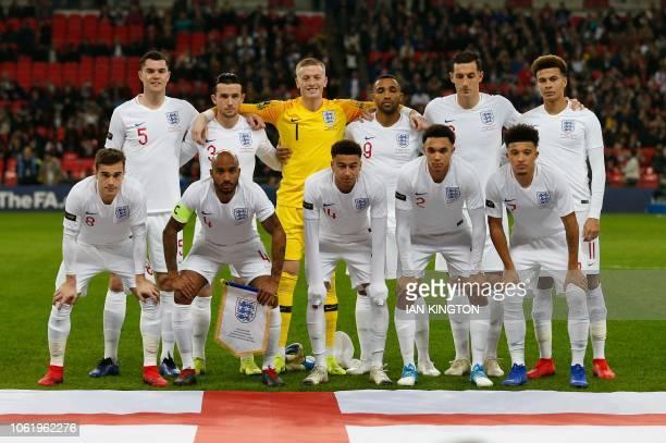 England's starting XI England's defender Michael Keane England's defender Ben Chilwell England's goalkeeper Jordan Pickford England's striker Callum...