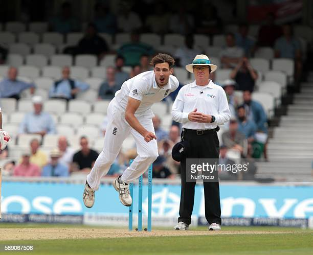 England's Steven Finn during Day Three of the Fourth Investec Test Match between England and Pakistan played at The Kia Oval Stadium London on August...