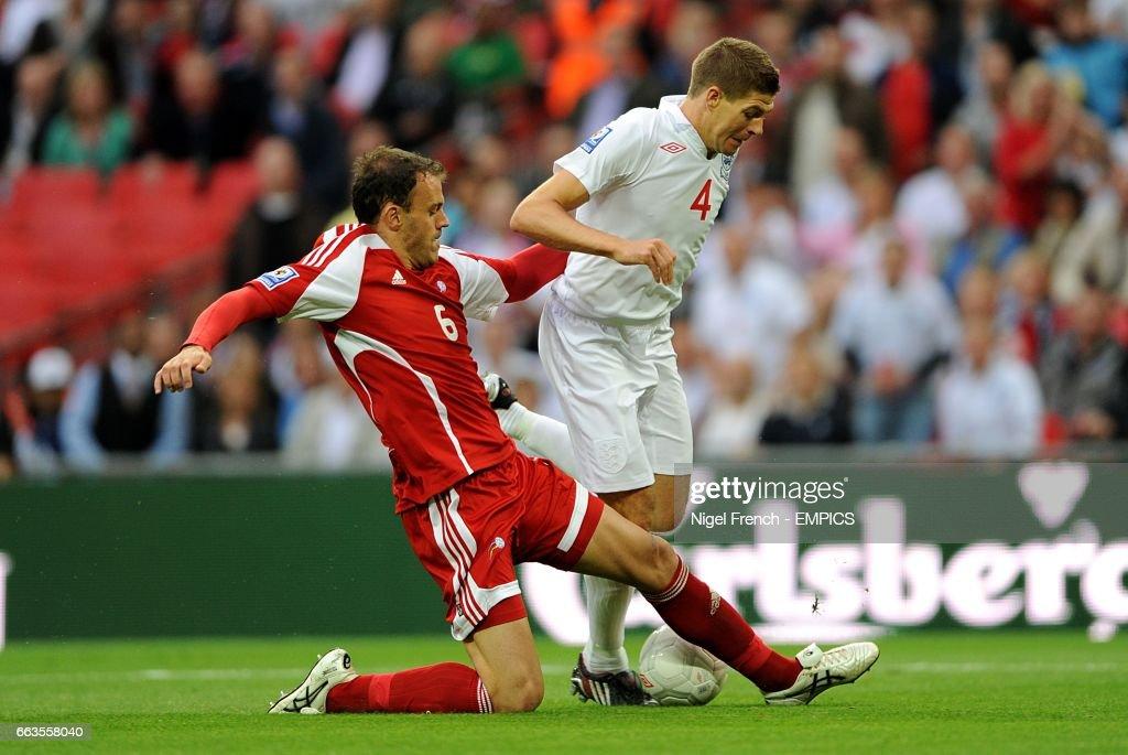 Soccer - Fifa World Cup 2010 - Qualifying Round - Group Six - England v Andorra - Wembley Stadium : News Photo