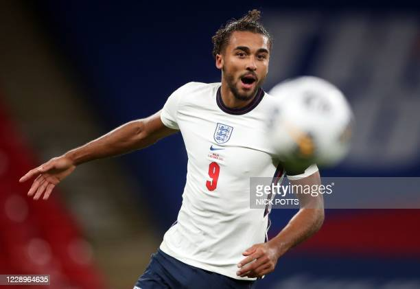 England's striker Dominic Calvert-Lewin during the international friendly football match between England and Wales at Wembley stadium in north London...