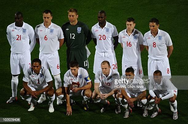 England's striker Emile Heskey, England's defender John Terry, England's goalkeeper Robert Green, England's defender Ledley King, England's...