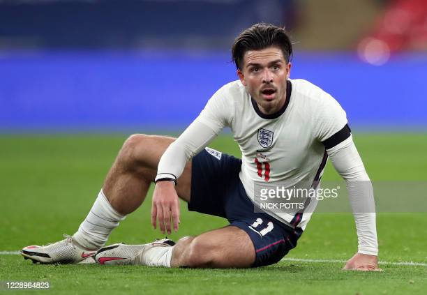 England's striker Jack Grealish during the international friendly football match between England and Wales at Wembley stadium in north London on...