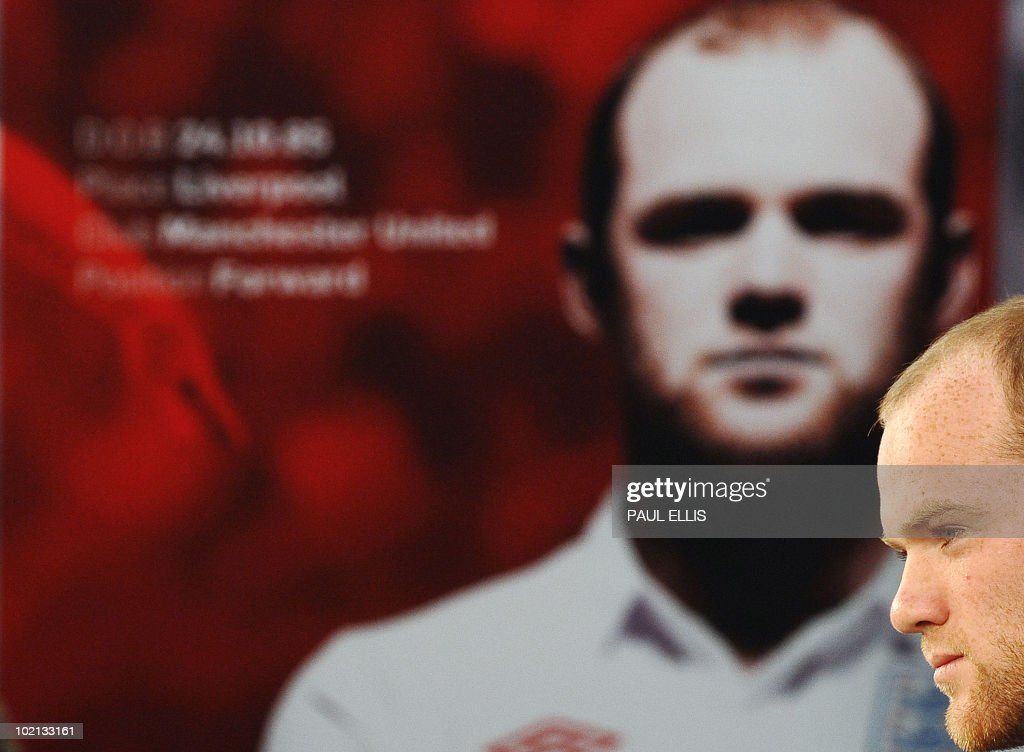 England's striker Wayne Rooney speaks during a press conference at the Royal Bafokeng Sports Campus near Rustenburg on June 16, 2010. England's flagging World Cup campaign was given a badly-needed lift on June 15 when star striker Rooney and defender Ashley Cole returned to training.