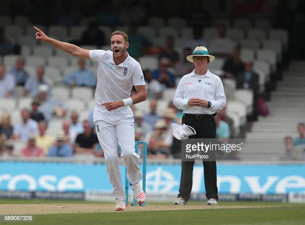 England's Stuart Broad during Day Three of the Fourth Investec Test Match between England and Pakistan played at The Kia Oval Stadium London on...